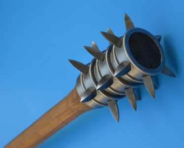 Wooden mace with spikes