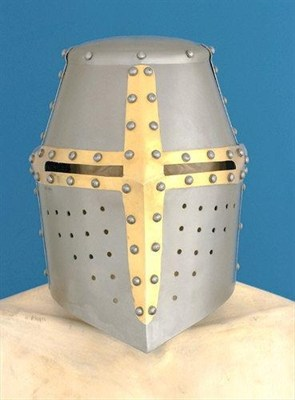 Great helm with brass cross