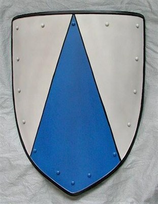 Coat of arms, blue triangle